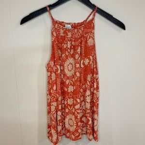 Lucky Brand Tank Orang & Cream Size Small